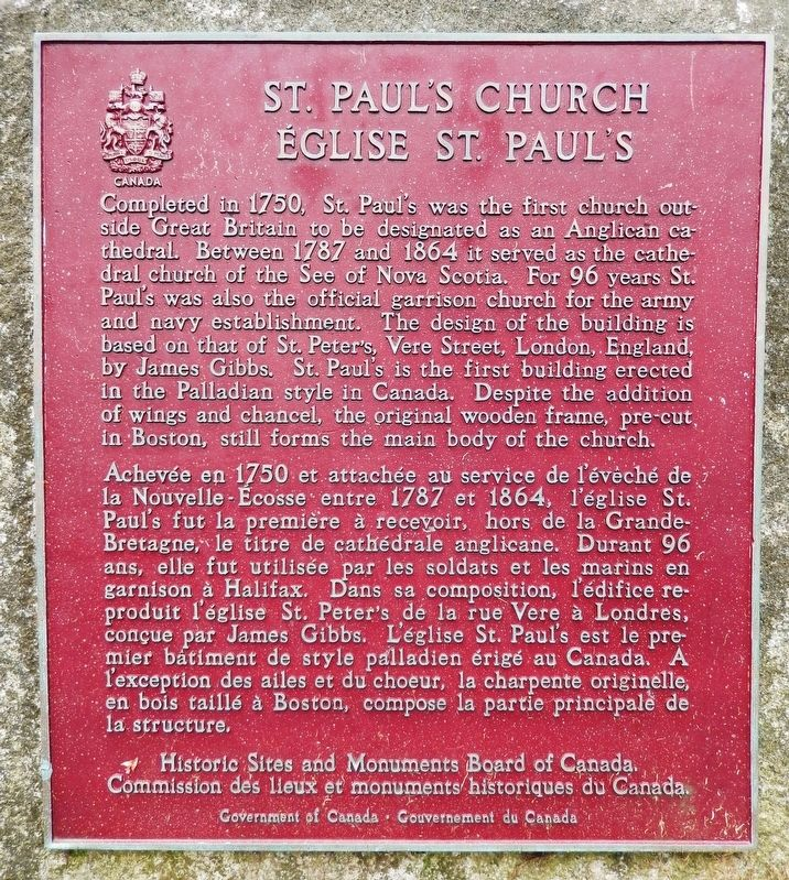 St. Paul's Church / Église St. Pauls Marker image. Click for full size.