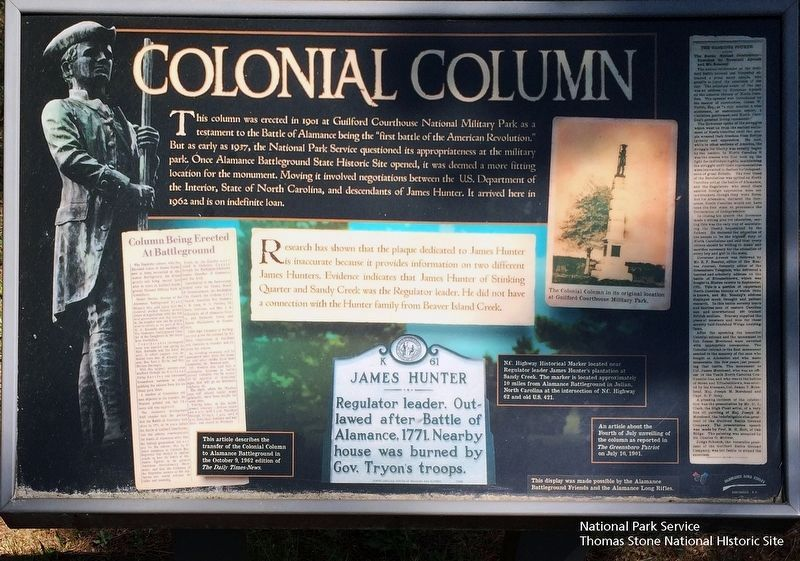 Colonial Column Marker image. Click for full size.