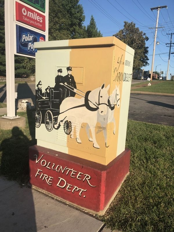 Volunteer Fire Dept. Marker image. Click for full size.