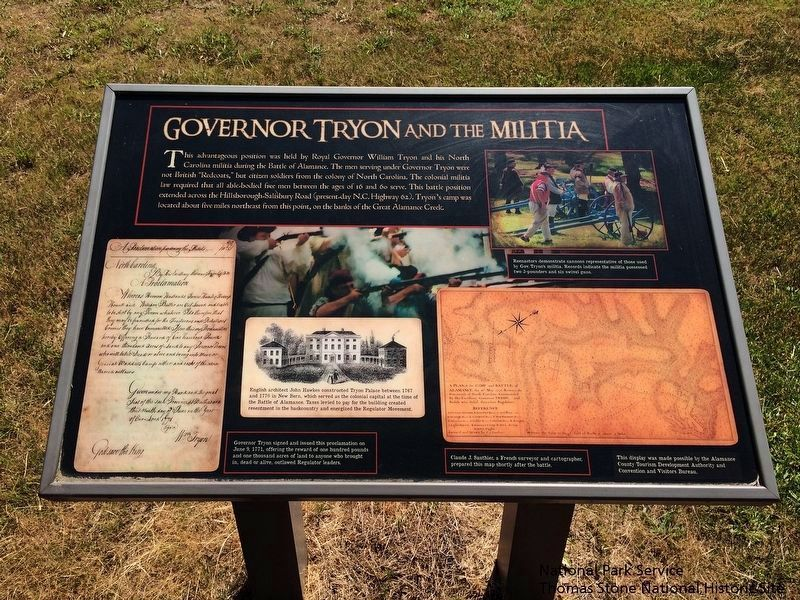 Governor Tryon and the Militia Marker image. Click for full size.