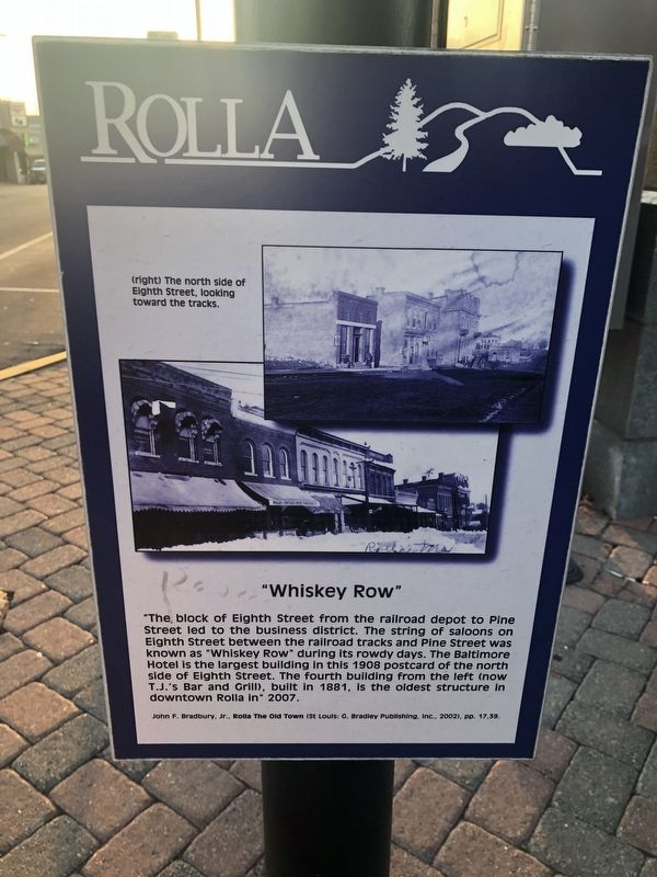 """Whiskey Row"" Marker image. Click for full size."