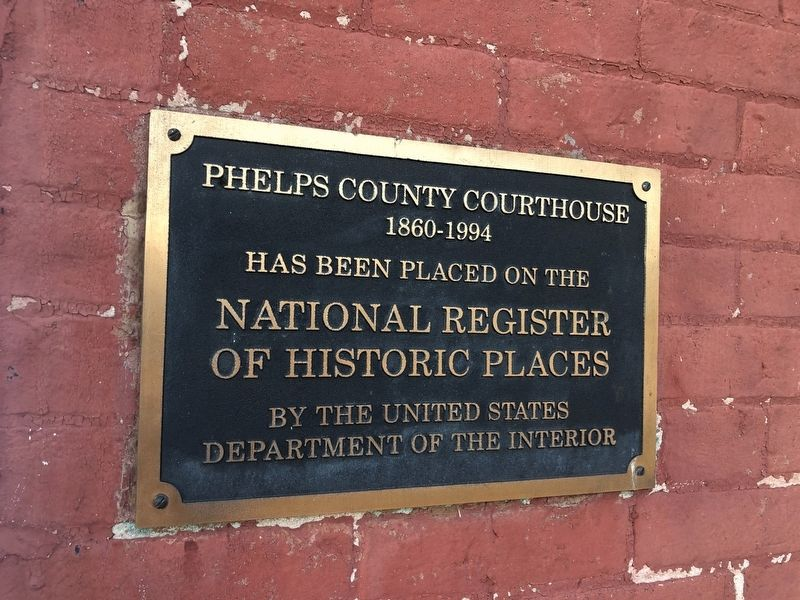 Phelps County Courthouse Marker image. Click for full size.