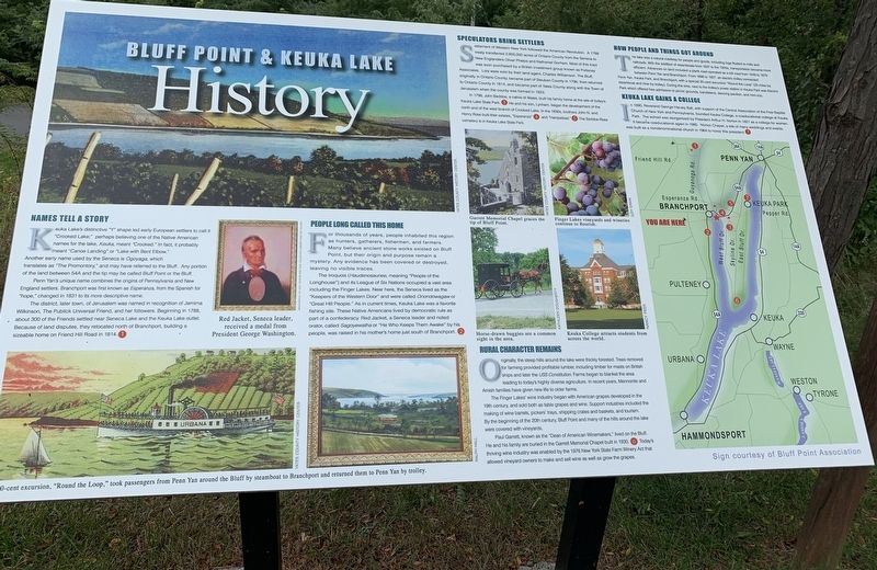 Bluff Point & Keuka Lake History Marker image. Click for full size.