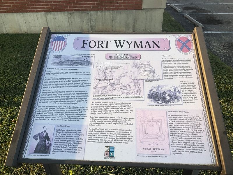 Fort Wyman Marker image. Click for full size.