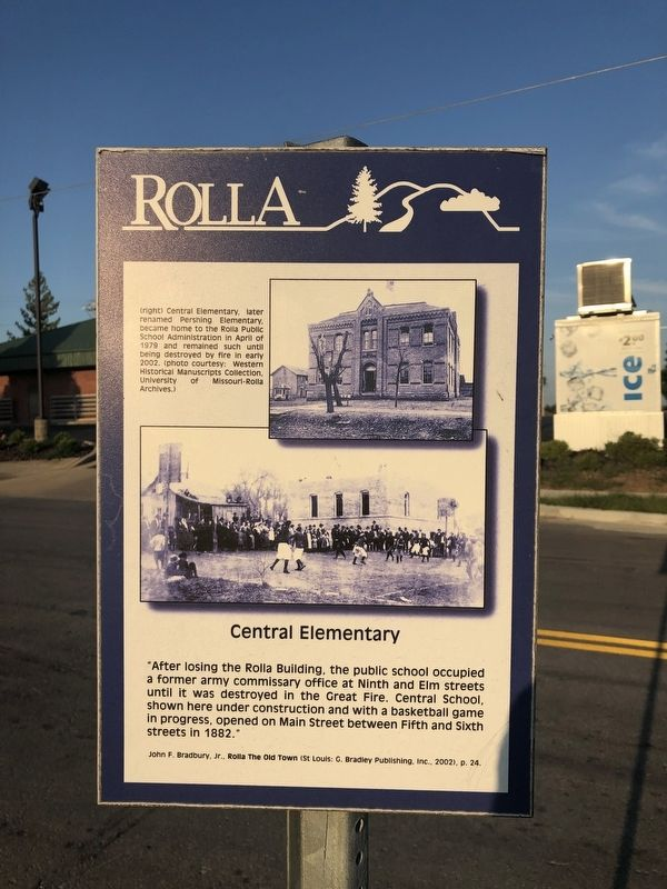 Central Elementary Marker image. Click for full size.