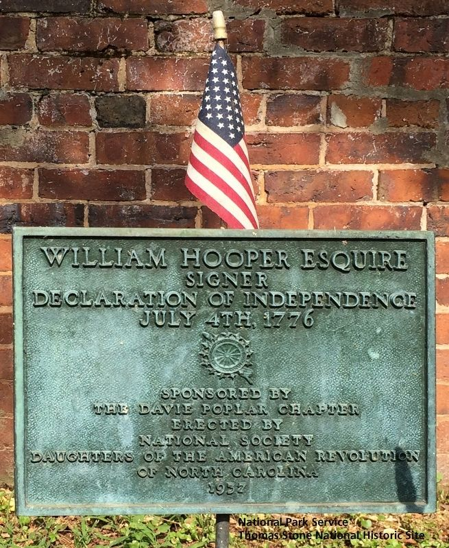 William Hooper Esquire Marker image. Click for full size.