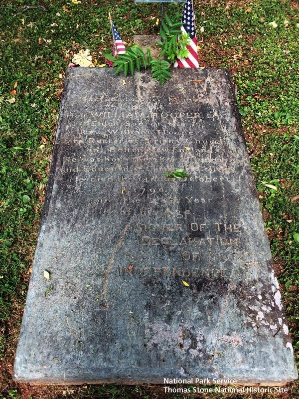 William Hooper grave site image. Click for full size.