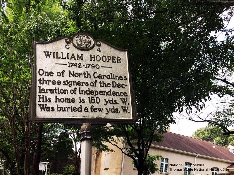 William Hooper Marker along North Churton Street. image. Click for full size.