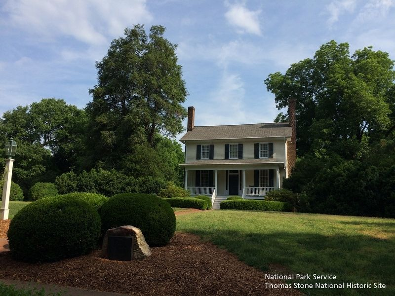Nash-Hooper House Marker and house exterior along West Tryon Street. image. Click for full size.
