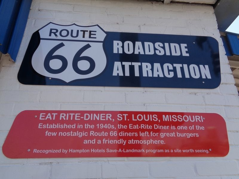 Eat Rite-Diner, St. Louis, Missouri Marker image. Click for full size.