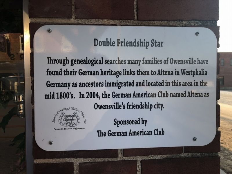 Double Friendship Star Marker image. Click for full size.