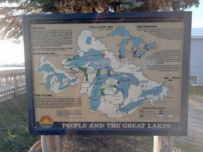 People and the Great Lakes Marker image. Click for full size.