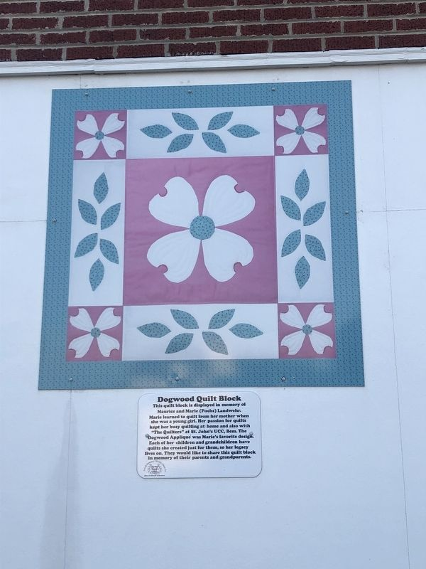 Dogwood Quilt Block Marker image. Click for full size.