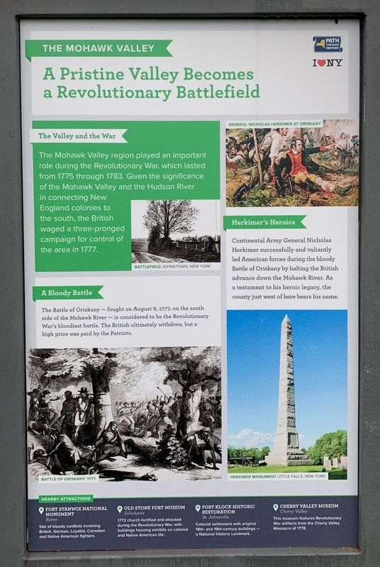 The Mohawk Valley Marker image. Click for full size.