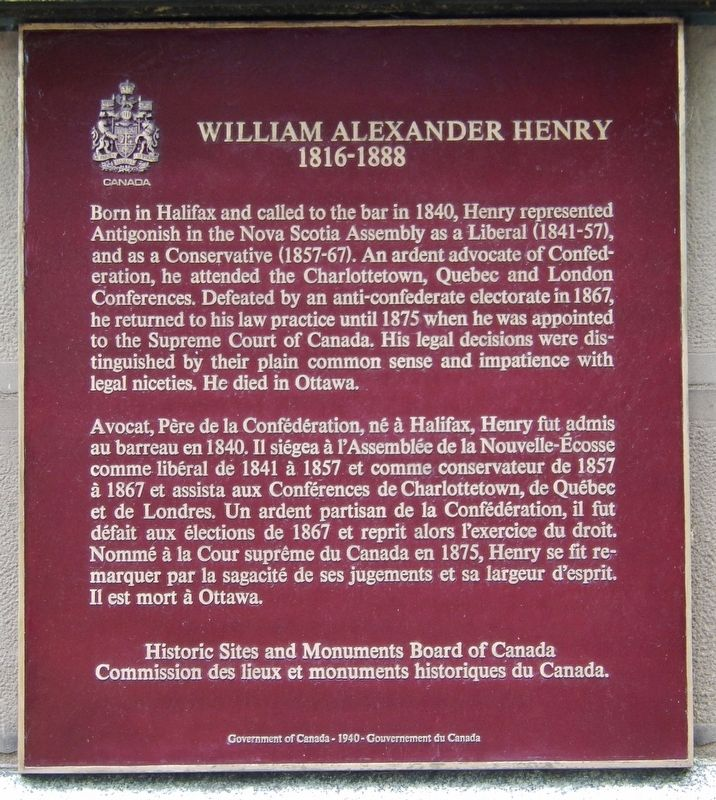 William Alexander Henry Marker image. Click for full size.