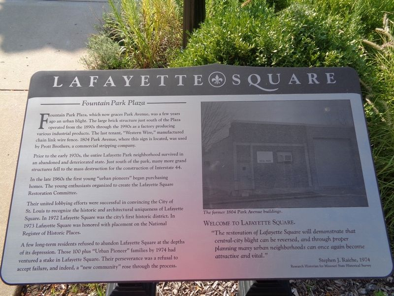 Lafayette Square Marker image. Click for full size.