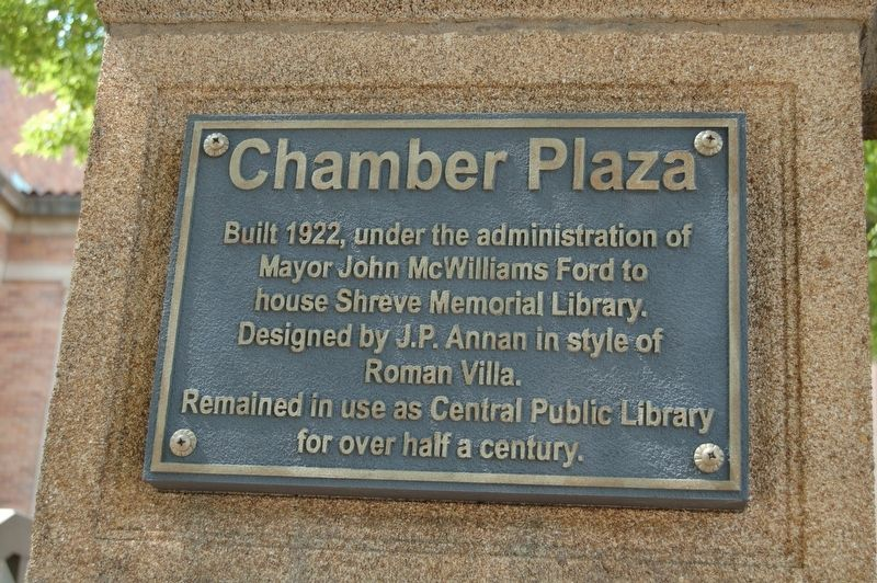 Chamber Plaza Marker image. Click for full size.