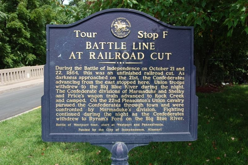 Battle Line at Railroad Cut Marker image. Click for full size.