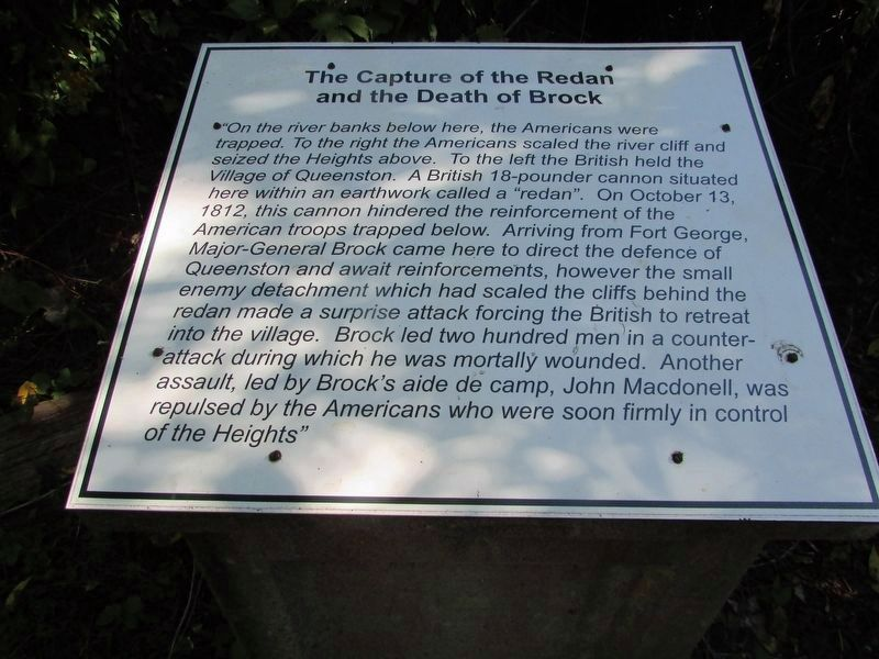 The Capture of the Redan and the Death of Brock Marker image. Click for full size.