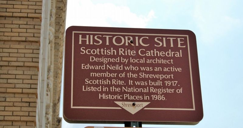 Scottish Rite Cathedral Marker image. Click for full size.
