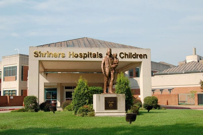First Shriners Hospital Marker image. Click for full size.