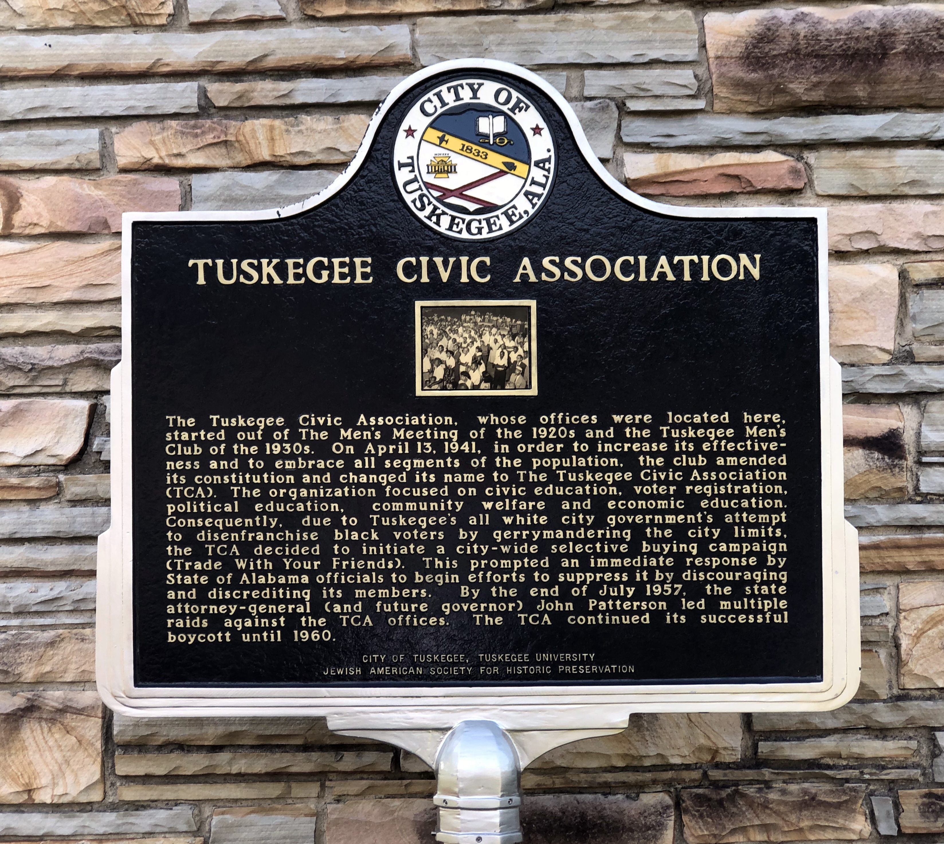 Tuskegee Civic Association Marker