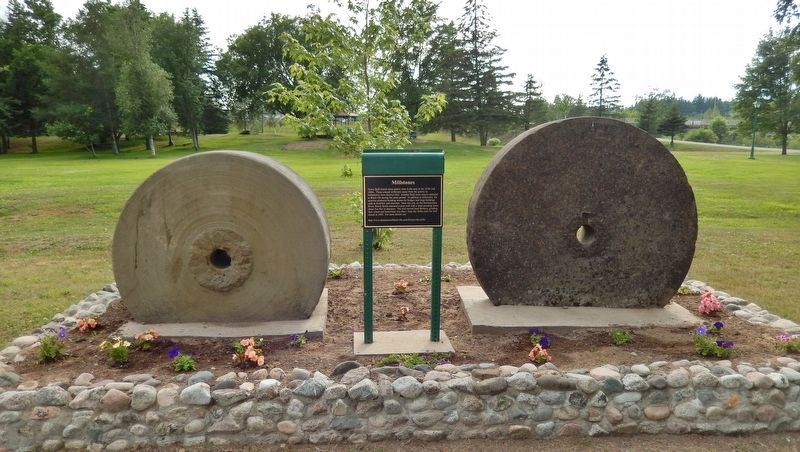 Millstones Marker (<i>wide view</i>) image. Click for full size.