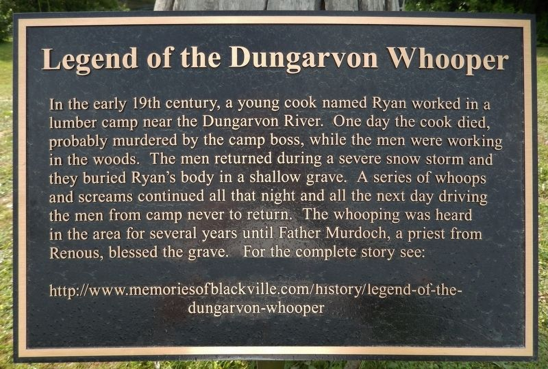 Legend of the Dungarvon Whooper Marker image. Click for full size.