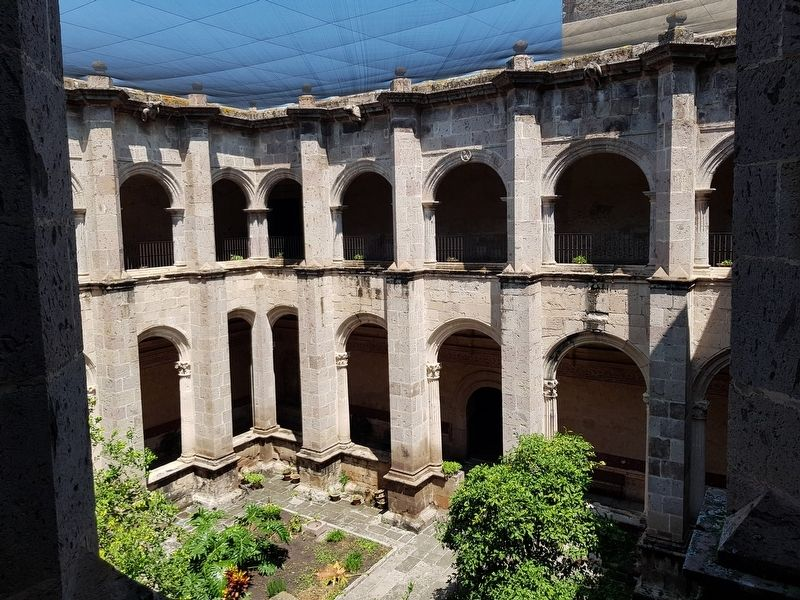 The interior courtyard of the Convent of Saint Augustine of Yuriria image. Click for full size.