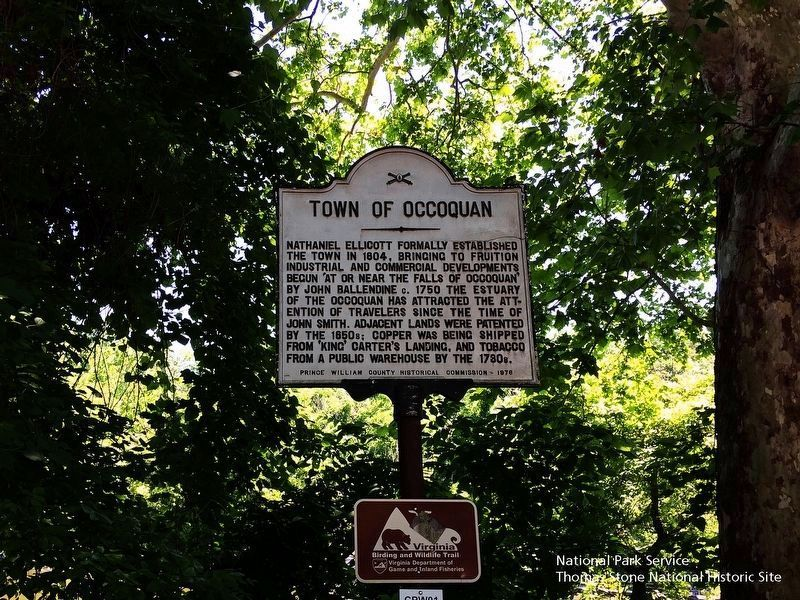 Town of Occoquan Marker image. Click for full size.