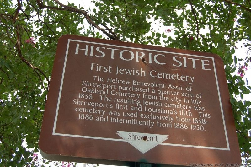 First Jewish Cemetery Marker image. Click for full size.