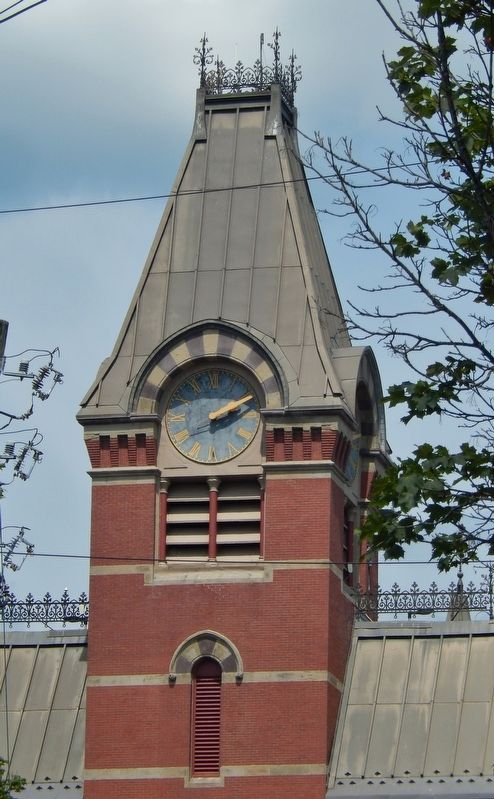 Fredericton City Hall Clock Tower image. Click for full size.