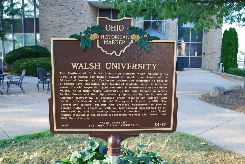 Walsh University Marker image. Click for full size.