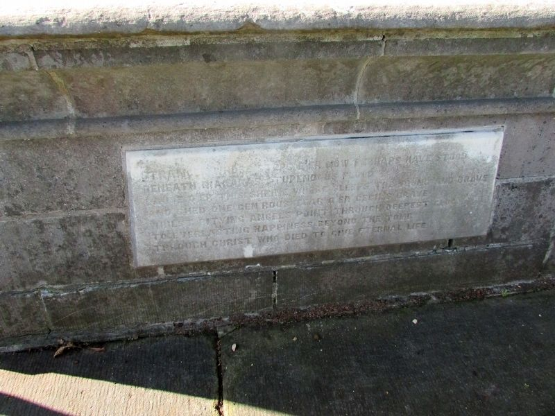 Cecil Bishopp Crypt Inscription image. Click for full size.
