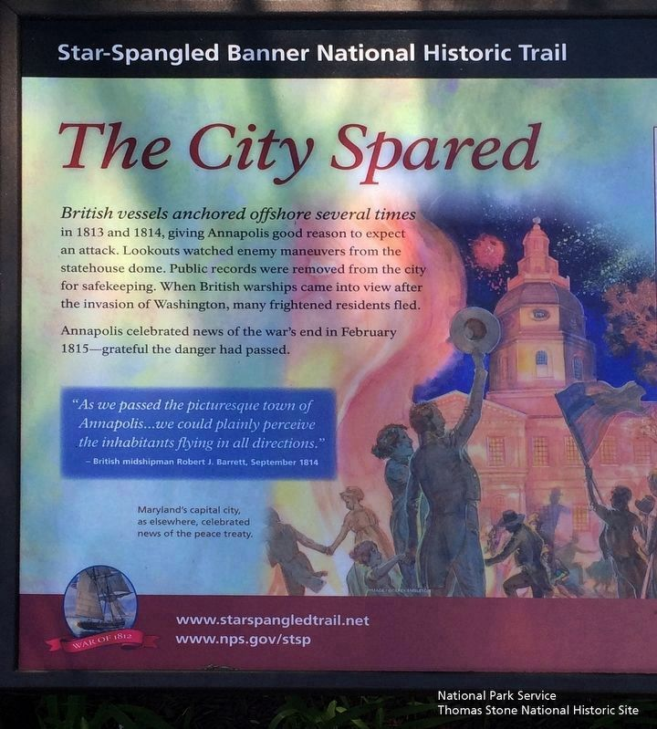 The City Spared Marker, left half image. Click for full size.