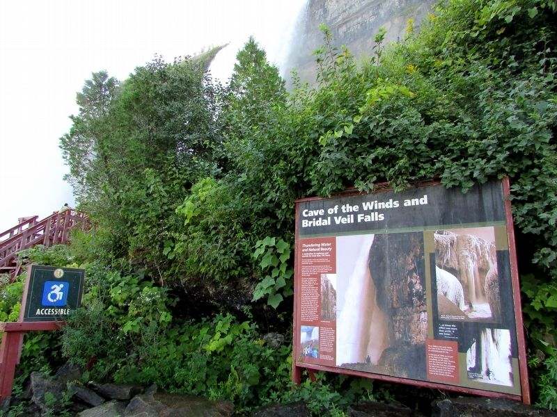 Cave of the Winds and Bridal Veil Falls Marker image. Click for full size.