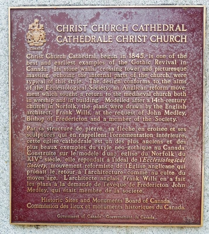Christ Church Cathedral /<br>Cathédrale Christ Church Marker image. Click for full size.