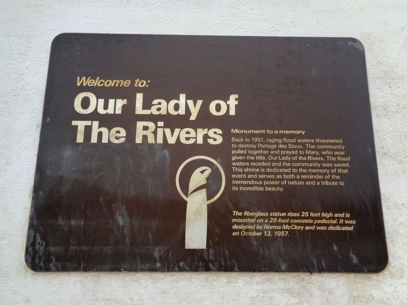 Our Lady of the Rivers Marker image. Click for full size.