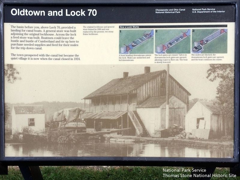 Oldtown and Lock 70 Marker image. Click for full size.