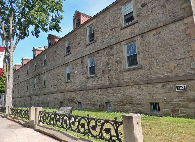 Fredericton Soldiers' Barracks (<i>south wall</i>) image. Click for full size.
