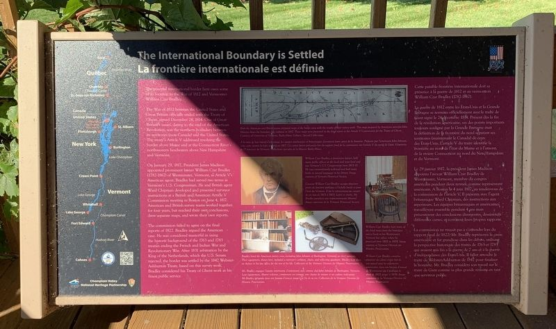 The International Boundary is Settled Marker image. Click for full size.