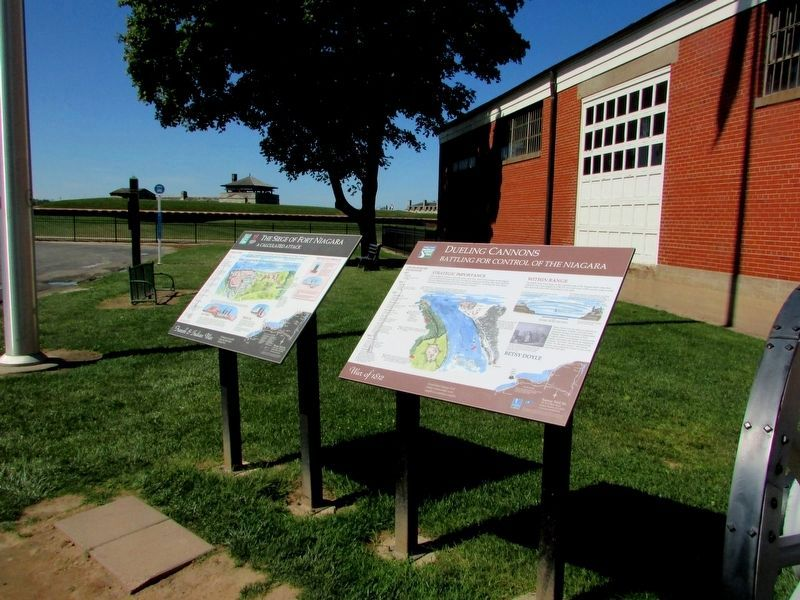 Markers at Old Fort Niagara image. Click for full size.
