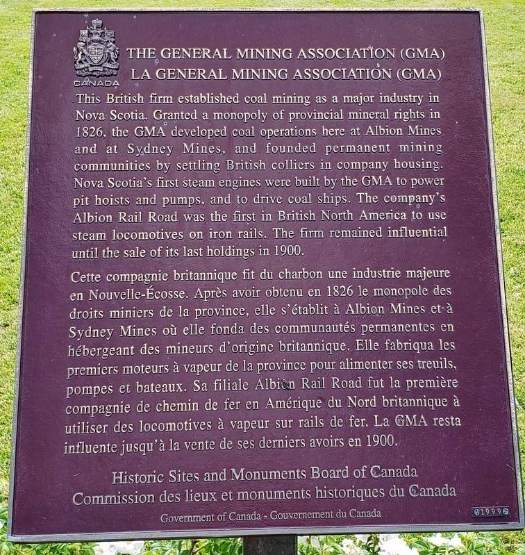 The General Mining Association Marker image. Click for full size.