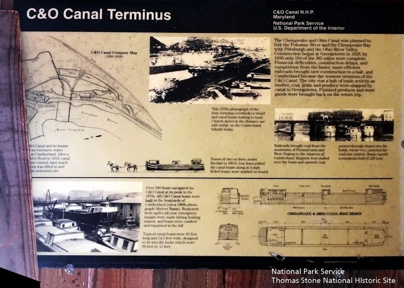 C&O Canal Terminus Marker image. Click for full size.