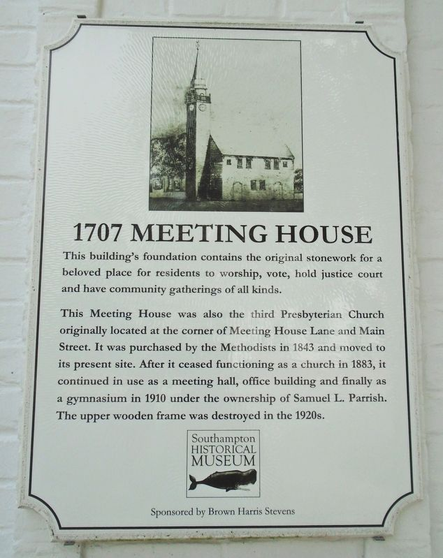 1707 Meeting House Marker image. Click for full size.