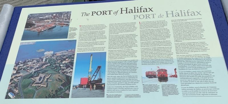 Port of Halifax Marker image. Click for full size.