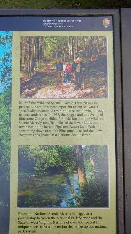 Bluestone National Scenic River Marker image, Touch for more information