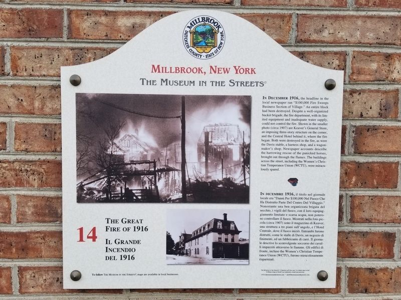 The Great Fire of 1916 Marker image. Click for full size.