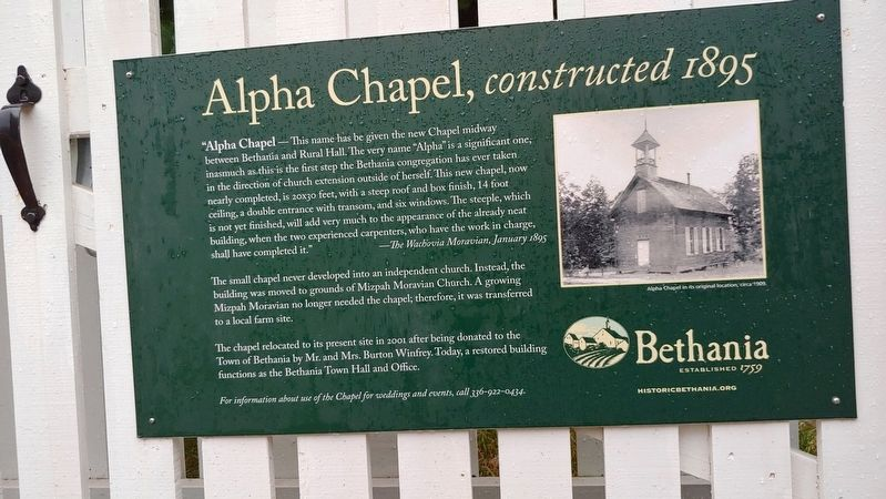 Alpha Chapel Marker image. Click for full size.