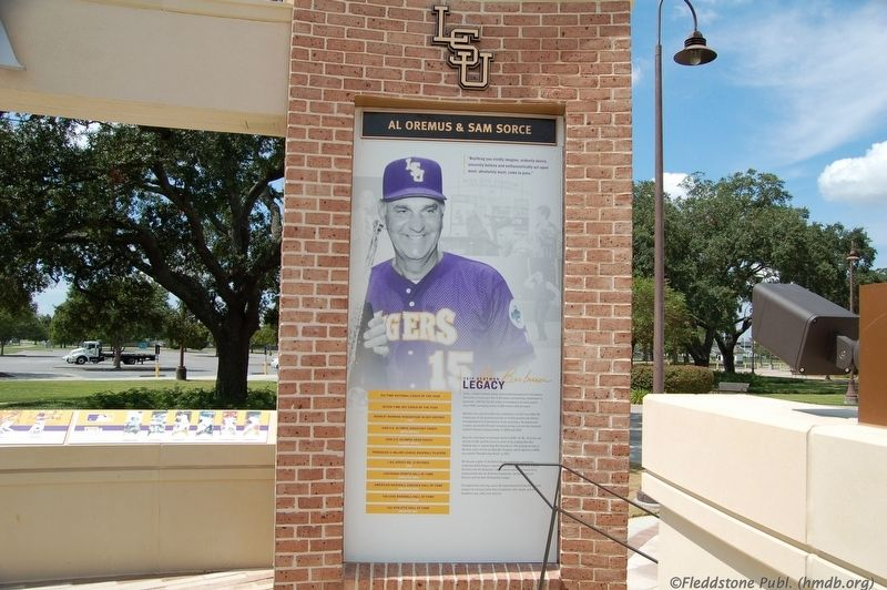Skip Bertman Legacy Marker image. Click for full size.
